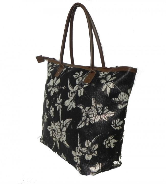 Bolsa De Ombro Lateral : Bolsa de ombro palha floral preta portal da