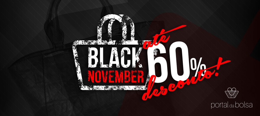 Black November até 60% de desconto!