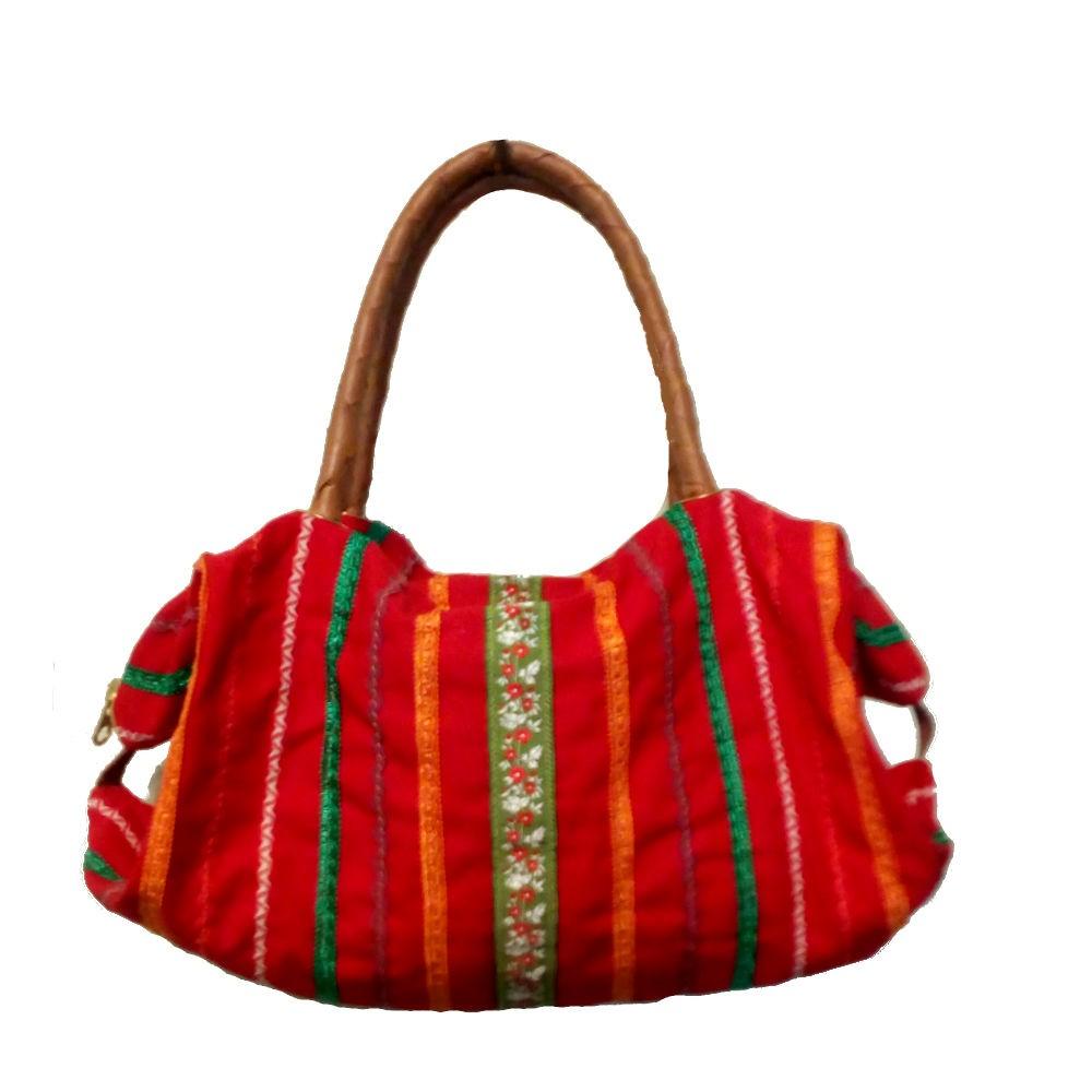Bolsa de Lona Vermelha com Sianinha