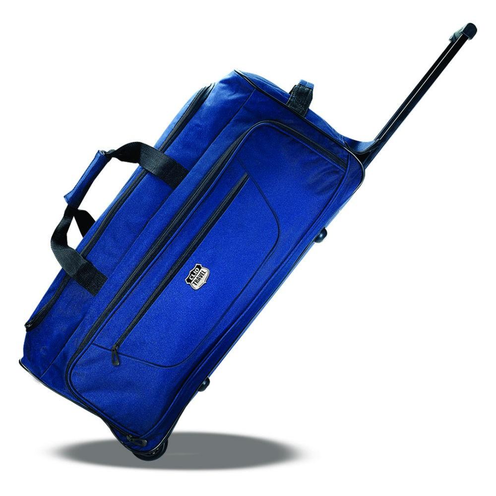 Bolsa de Viagem Azul com Rodinhas
