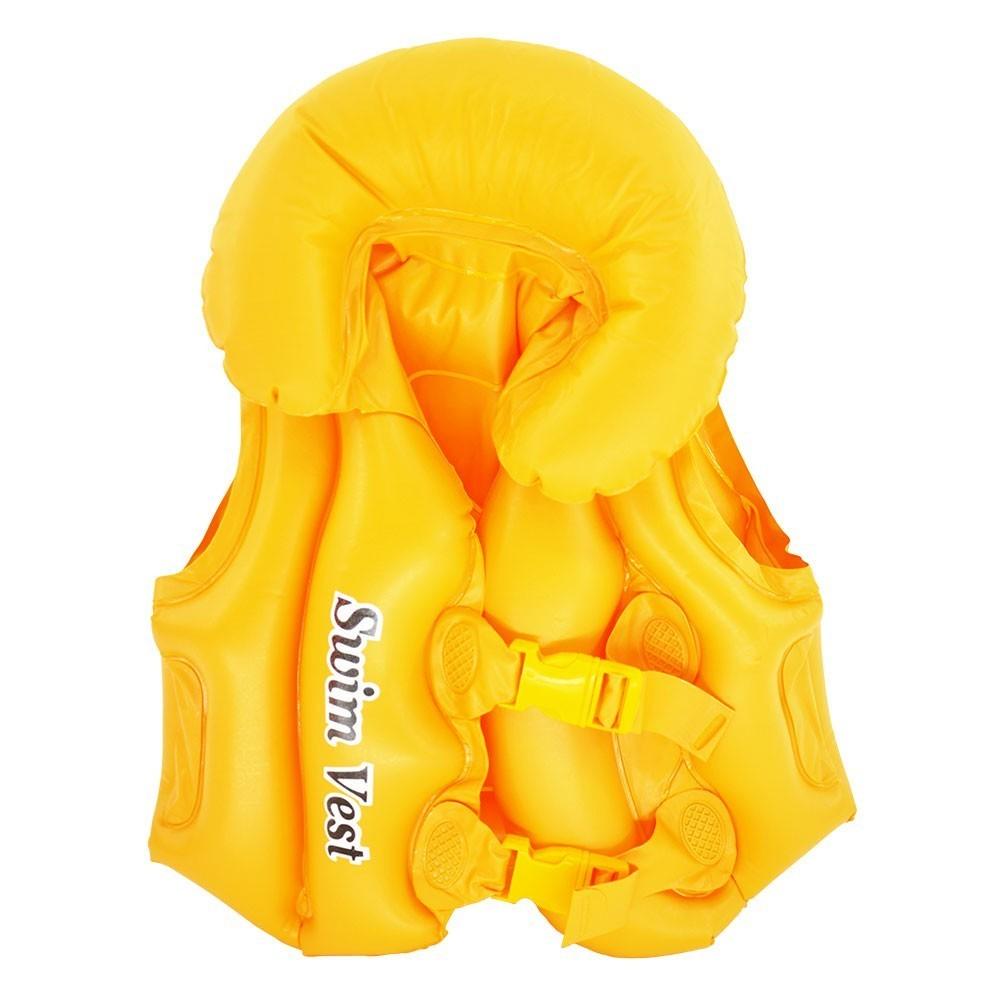 Colete Inflável Infantil Amarelo
