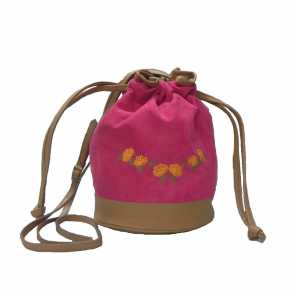 Bolsa Saco Camurça Pink