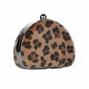 Clutch Animal Print Marrom