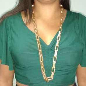 Colar ABS Feminino Dourado