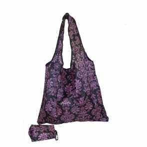 Eco Bag Preta Floral